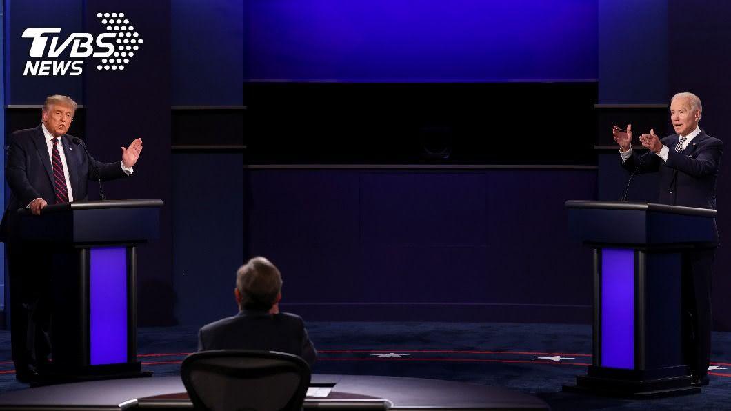 美國第二場總統辯論改虛擬形式進行,川普拒絕參加並提議延後舉辦。(圖/達志影像路透社) 第2場總統辯論喬不攏 川普提議延後、拜登拒絕