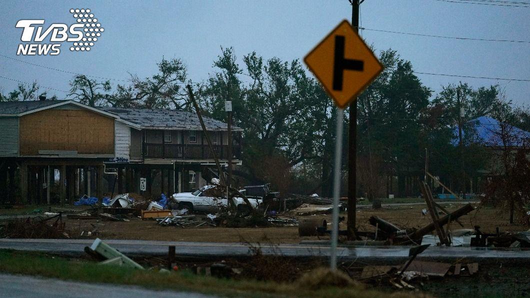(圖/達志影像美聯社) 颶風戴爾塔逼近美國路易斯安那州 恐引發風暴潮