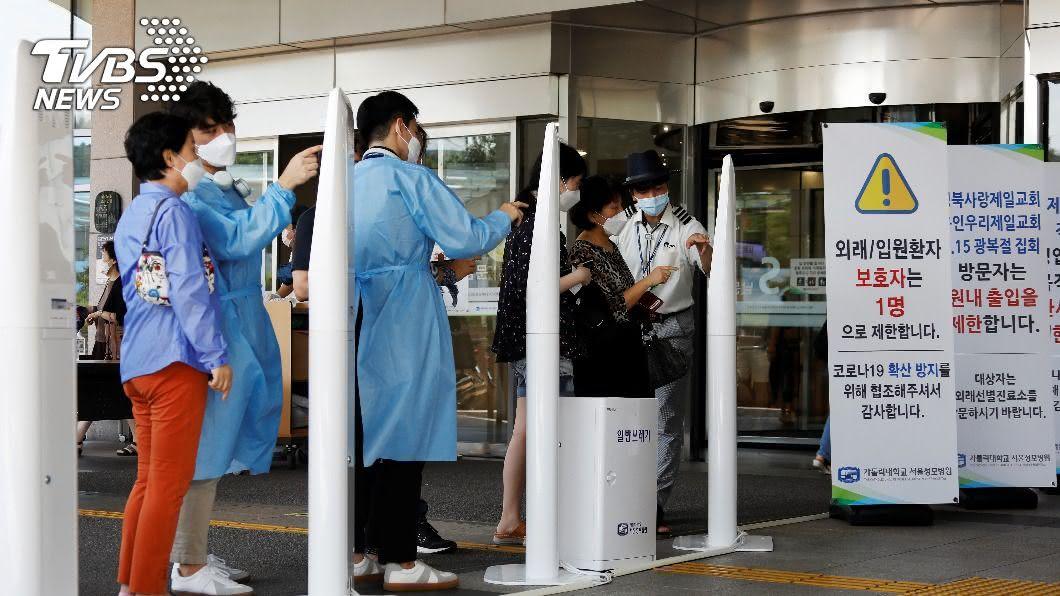 韓國增加54例人數破2.4萬,目前累計428死亡。(圖/達志影像路透社) 韓國新冠確診逼近2.5萬 目前累計428死
