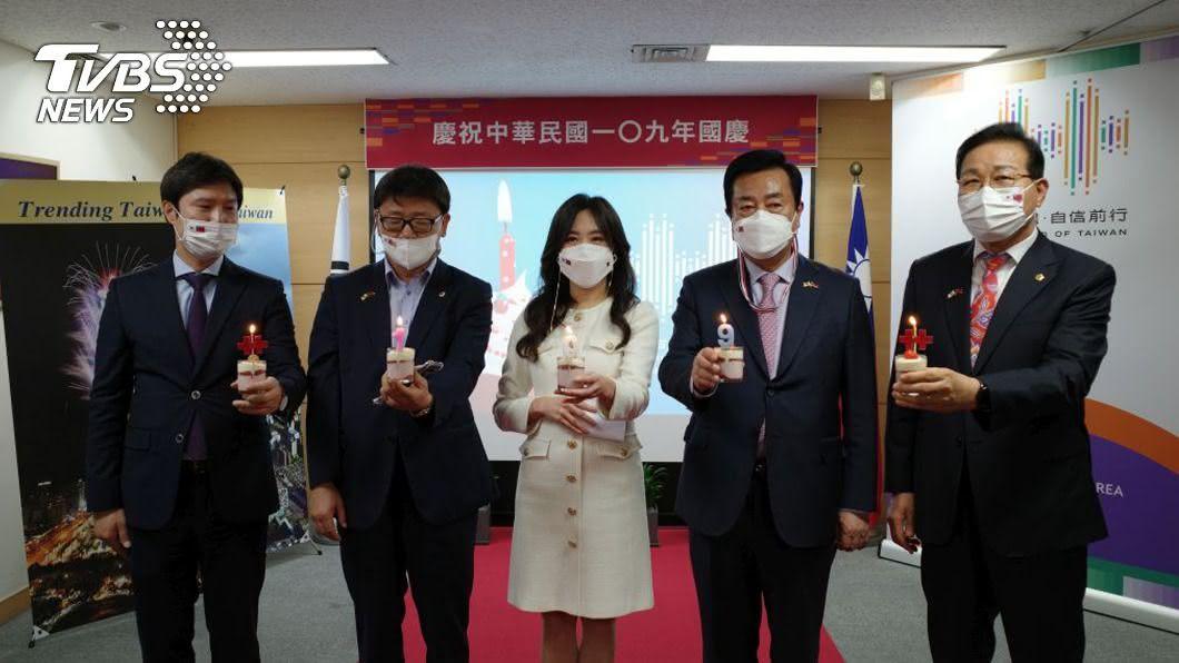 (圖/中央社) 駐釜山辦事處慶祝國慶 政商學僑界出席精簡隆重