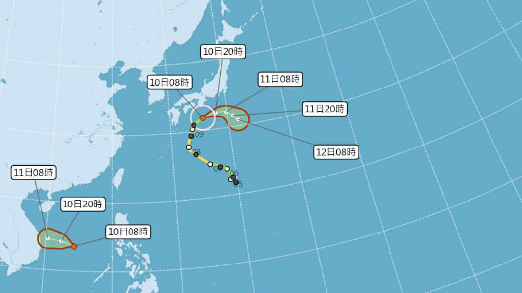 颱風昌鴻正影響日本靠太平洋側地區,對部分地區帶來大雨及強風。(圖/中央氣象局) 強風大雨襲!日近海湧長浪 颱風昌鴻最新動態曝