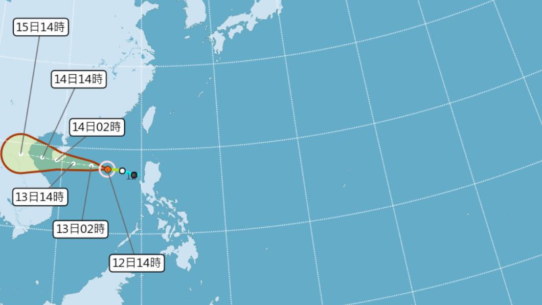 (圖/中央氣象局) 輕颱南卡今下午2時形成 14日前基隆北海岸防大雨