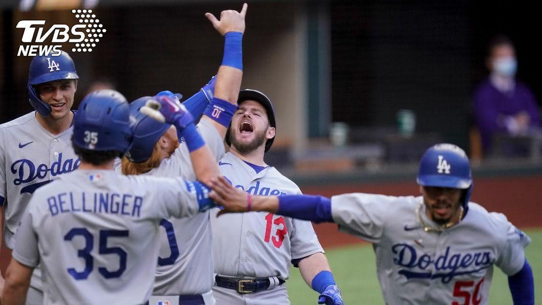 (圖/達志影像美聯社) 道奇1局上一口氣攻下11分 締造MLB季後賽紀錄