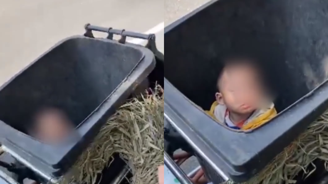 (圖/翻攝自微博) 巧遇尪前妻爆氣!正宮將2歲親兒「重摔垃圾桶」冷眼走人