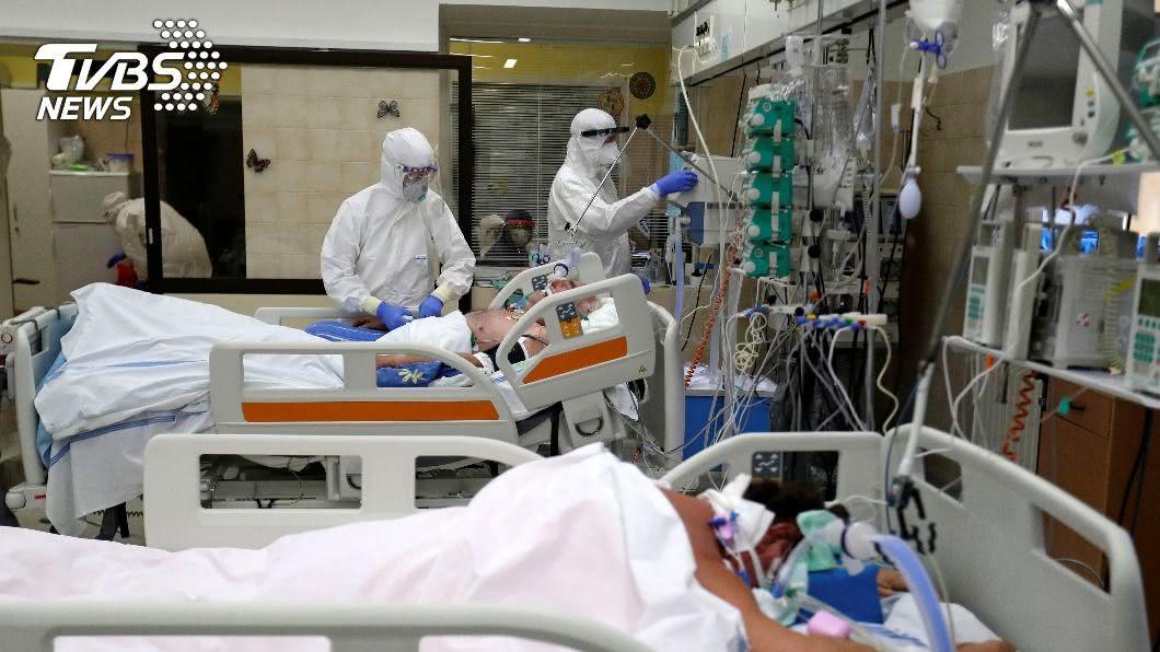 捷克單日確診首度突破1萬人大關,醫院急補強人力和設備。(圖/達志影像路透社) 捷克單日確診首破萬 醫院急增人力設備