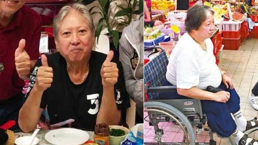 洪金寶近年以輪椅代步。(圖/翻攝自微博) 洪金寶操殘腿「孫都抱不動」!拄枴杖近況曝 憔悴緊攙扶