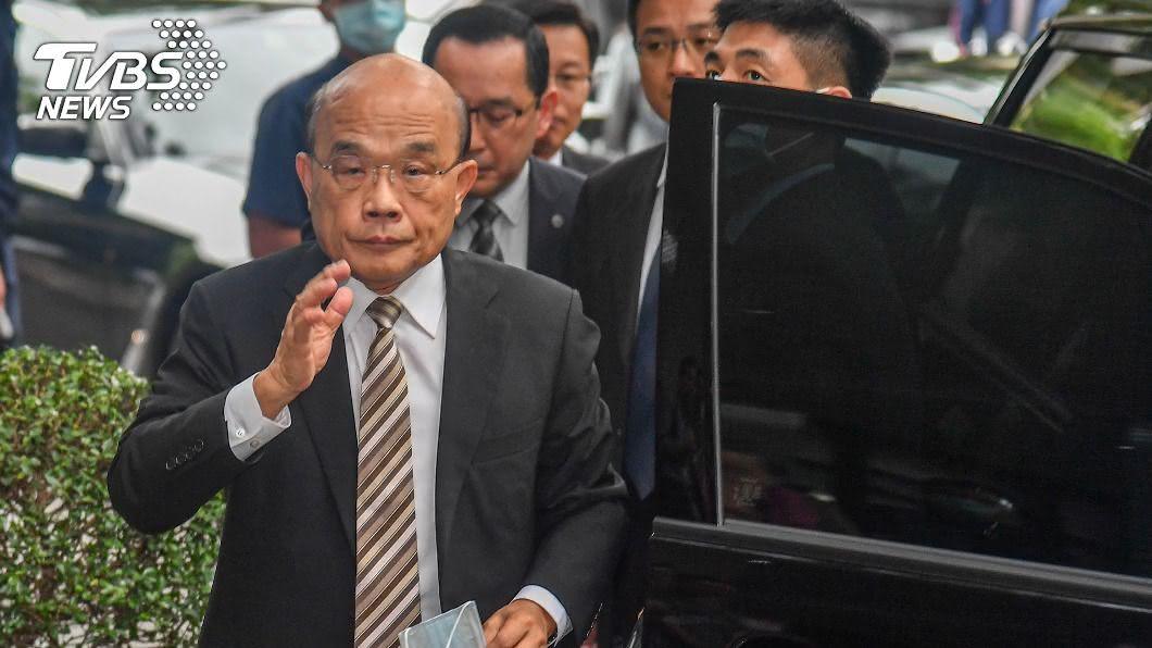 行政院長蘇貞昌。(圖/中央社) 藍營喊「倒閣」 蘇貞昌:到國會卻無法上台很不講理