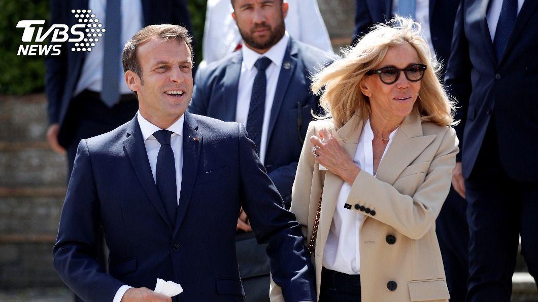 法國第一夫人將自我隔離7天。(圖/達志影像路透社) 接觸過染疫者 法國第一夫人將自我隔離7天