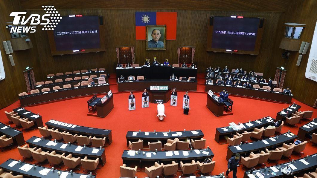 (圖/中央社) 藍委提案要總統赴立院報告 朝野協商無共識
