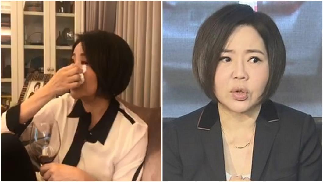 (圖/翻攝自于美人臉書、TVBS資料畫面) 任橘營發言人58天淚曝受傷 于美人鬆口認:後悔死了