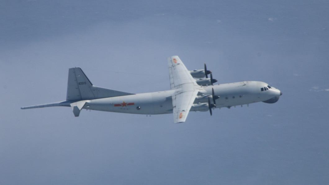 圖為運8同型機。(圖/翻攝自國防部) 共軍反潛機侵犯台灣西南空域 9/16起第22度擾台