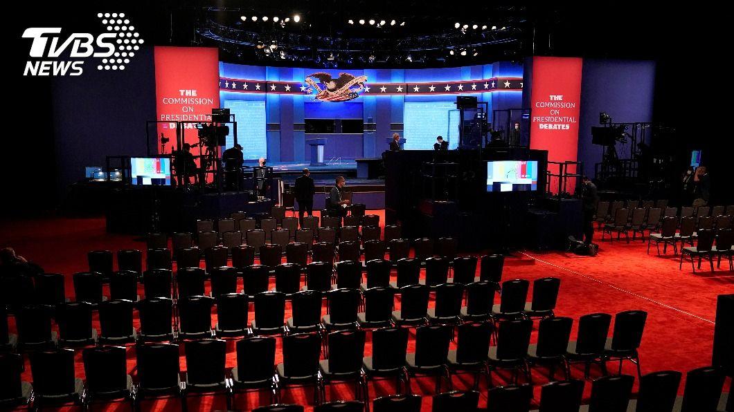 美國大選最終場辯論。(圖/達志影像美聯社) 美大選最終辯論登場 川普染疫、拜登兒電郵門料成焦點
