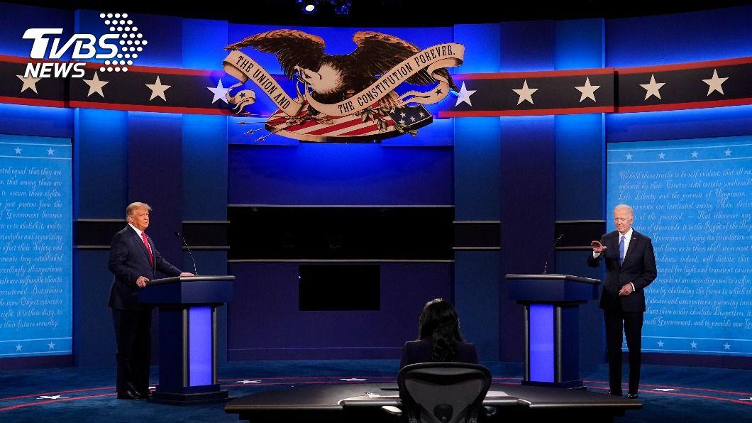 美總統大選最終辯論。(圖/達志影像美聯社) 川普直攻拜登之子大陸生意 拜登反批川普祕密帳戶