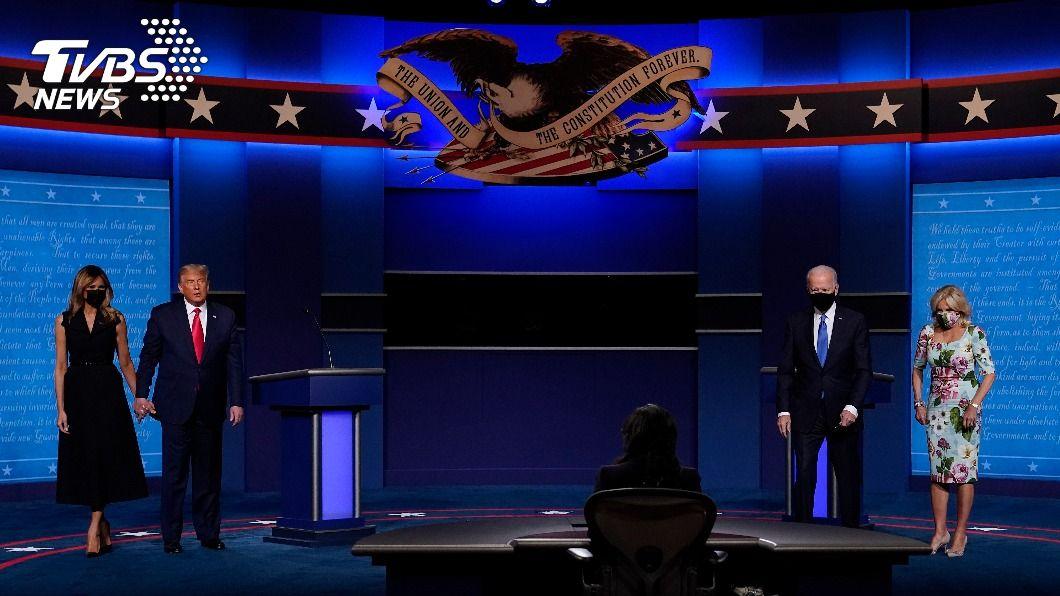 (圖/達志影像美聯社) 美總統大選選前辯論會 戴不戴口罩成看點