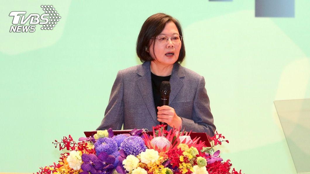 總統蔡英文出席2020年台灣全球健康論壇。(圖/中央社) 蔡英文:台灣能貢獻全球防疫 參與WHO至關重要