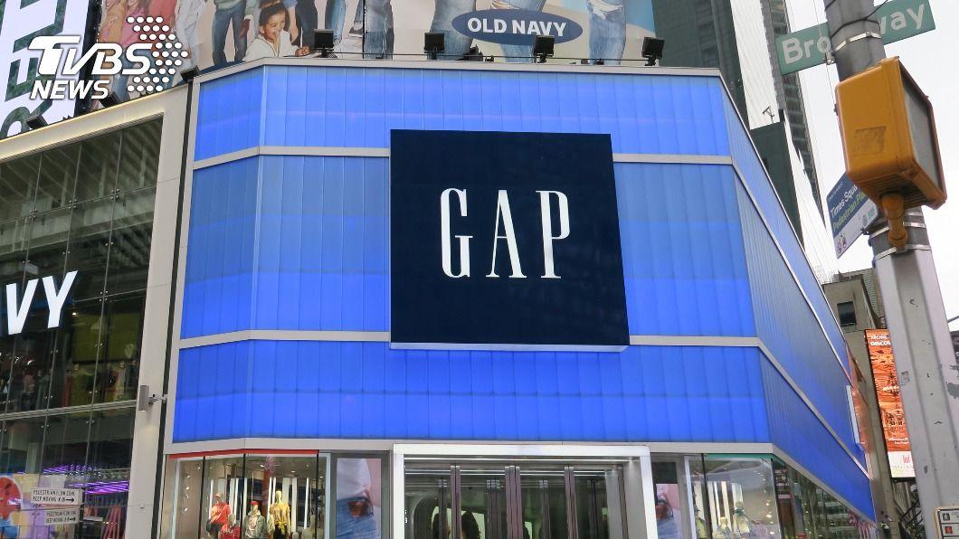 休閒服飾品牌GAP。(圖/中央社) 美國服飾品牌GAP往昔叱吒商場 如今重整大舉關店