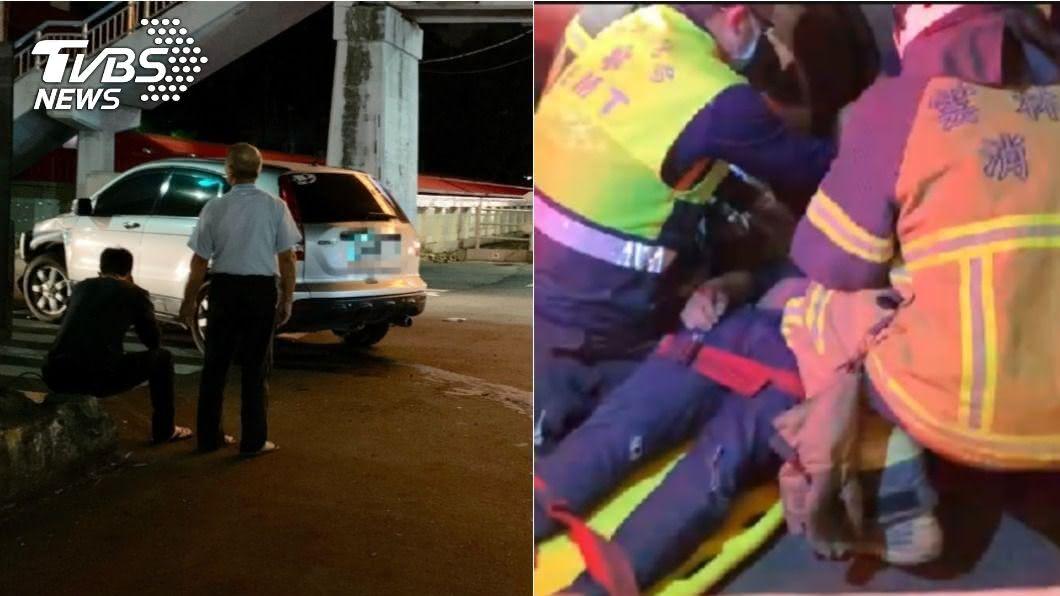 (圖/TVBS) 雲林20歲2男卡車底「1死1重傷」 駕駛掩面痛哭