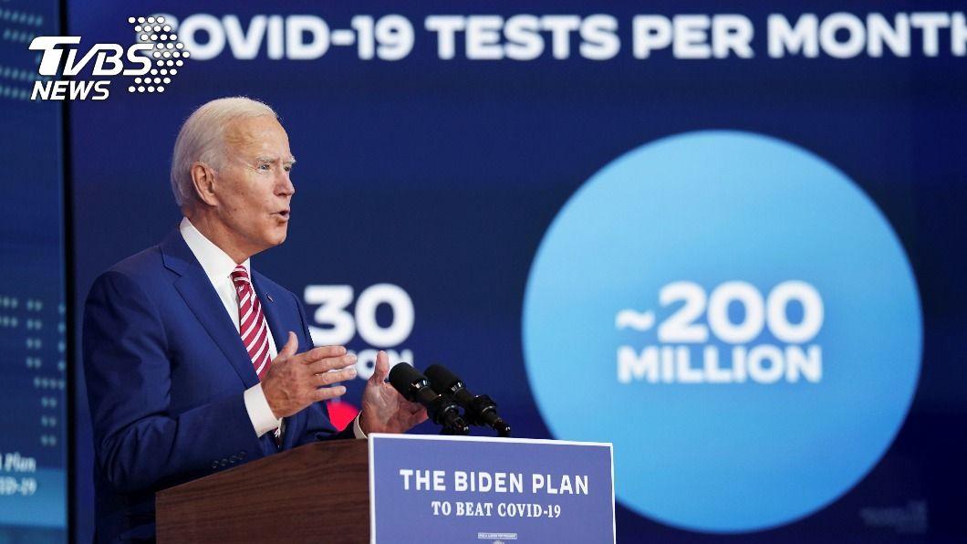 美國總統候選人拜登承諾當選提供全美人民免費新冠疫苗。(圖/達志影像路透社) 端超大盤牛肉!拜登:若當選免費供應全美新冠疫苗