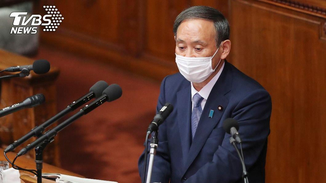 日本首相菅義偉。(圖/達志影像美聯社) 菅義偉施政方針演說 2050年溫室氣體達淨零排放