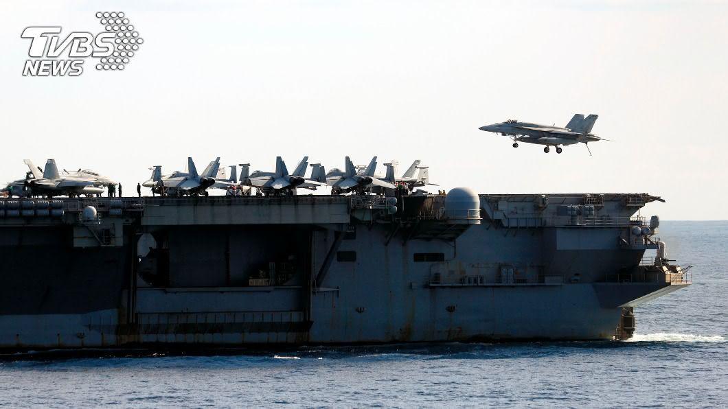 雷根號航空母艦參與銳劍軍演。(圖/達志影像美聯社) 美日銳劍大型軍演 航空母艦領軍4.6萬官兵參與
