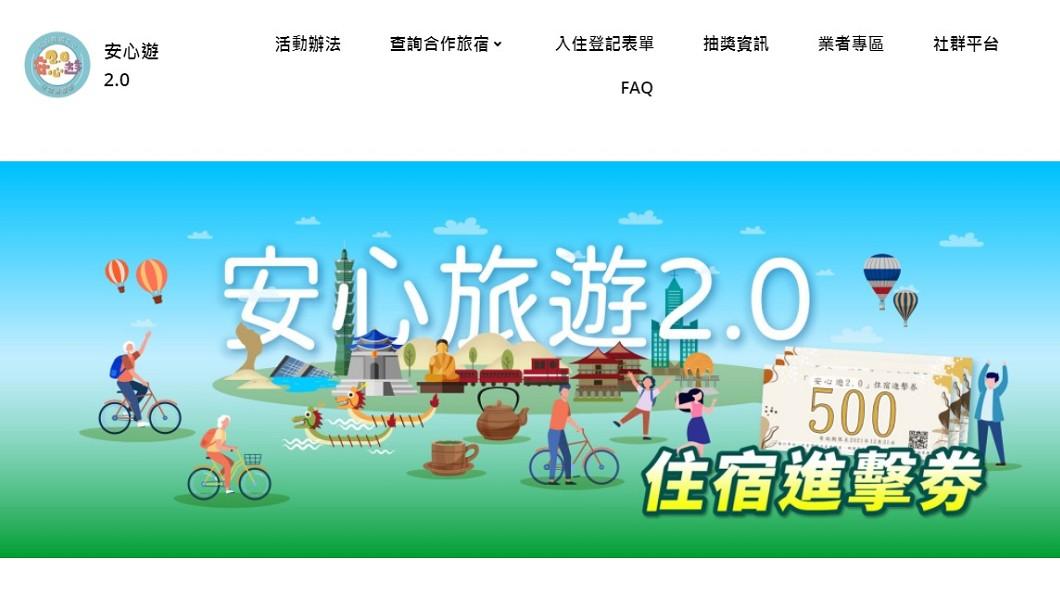 (圖/翻攝自安心遊2.0網站) 旅客踴躍住宿進擊券網站又罷工 暫以臉書服務