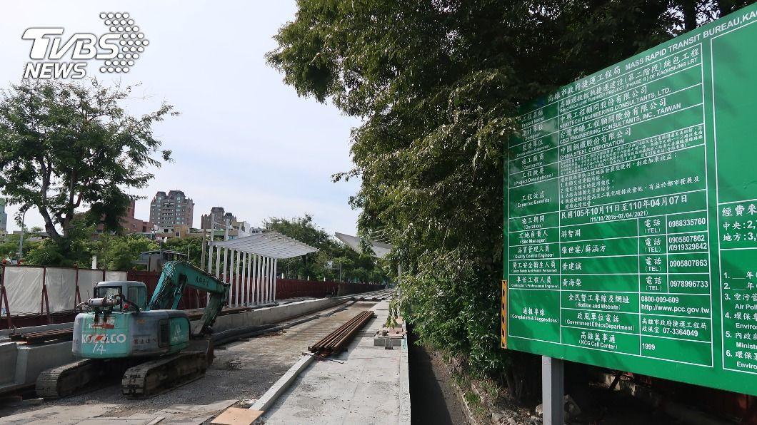 (圖/中央社) 高雄輕軌二階民調 6成支持原路線路型優化