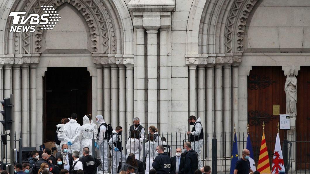 (圖/達志影像美聯社) 法國尼斯教堂攻擊案 傳凶手為突尼西亞移民