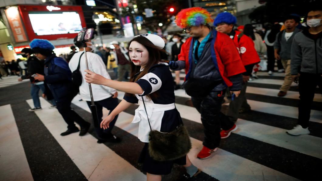 圖/達志影像路透 來去澀谷慶萬聖!變裝者:格格不入好丟臉