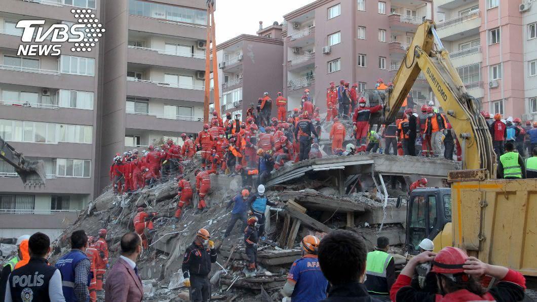 (圖/達志影像美聯社) 愛琴海強震104死逾千傷 疑低劣營造檢羈押9人