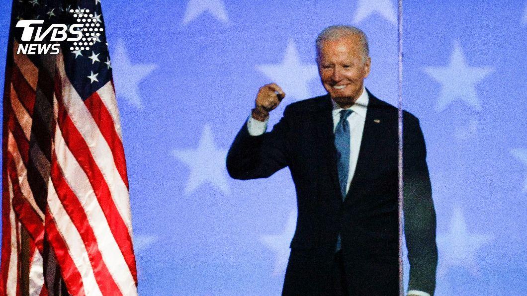 美民主黨籍總統候選人拜登。(圖/達志影像路透社) 大選開票不若預期 白宮外拜登支持者歡欣變凝重