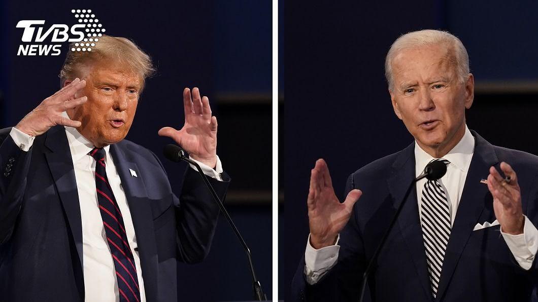 美國總統川普、民主黨總統候選人拜登。(圖/達志影像美聯社) 不斷更新/一夜攻下2州 拜登264:214領先川普