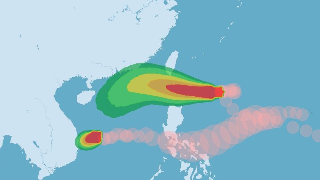 (圖/中央氣象局) 颱風閃電變胖變強最快傍晚發陸警 明對台影響最明顯