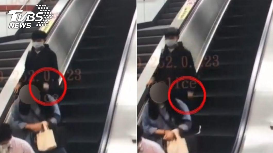 上月底內湖捷運站內發生女子遭後方陌生男子剪頭髮,警方已經逮到人了。(圖/TVBS) 內湖「剪髮怪客」逮到了 男大生犯案動機曝光