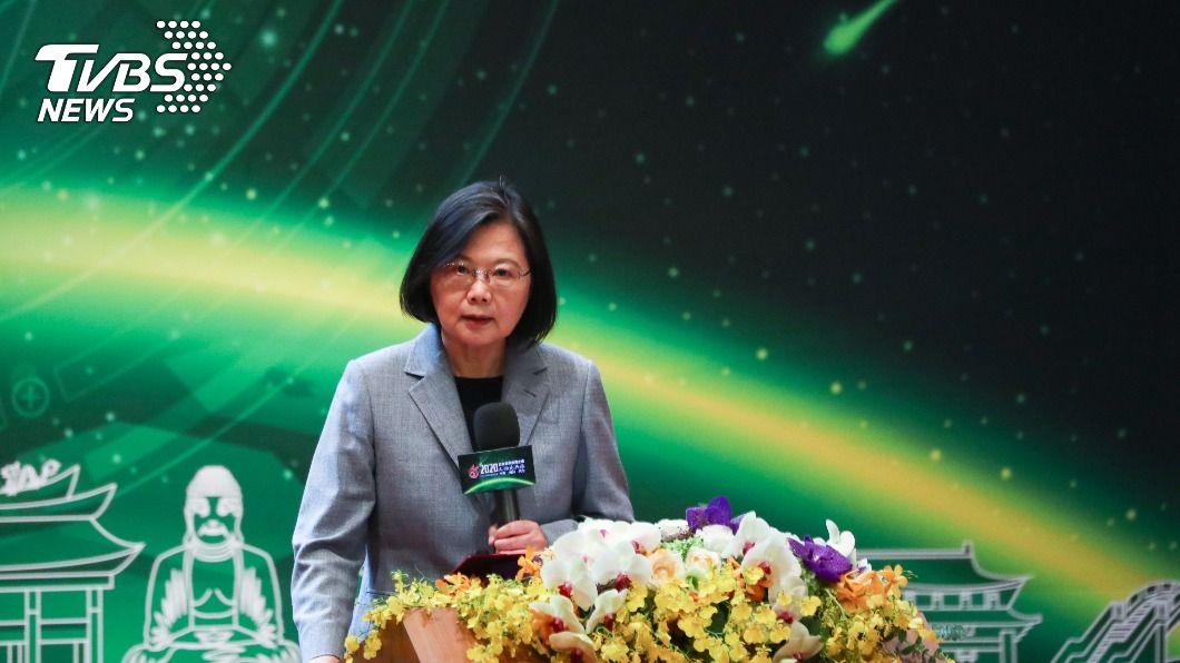 總統蔡英文。(圖/中央社) 全球供應鏈重組 蔡總統:台灣要把握搶得先機