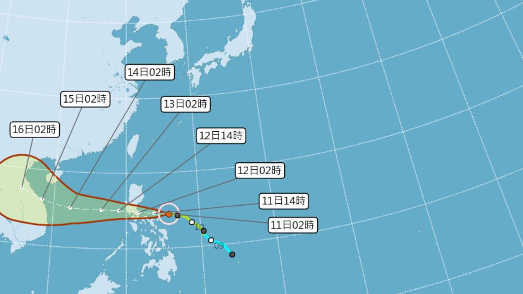 (圖/中央氣象局) 清晨最低溫14.9度 週五颱風外圍水氣影響北東部防雨
