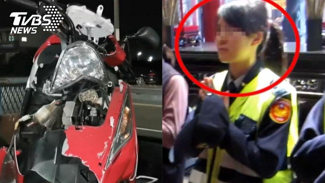 (圖/TVBS) 北港女警車禍慘死 同事「萬分惋惜」心碎悼:會想念妳
