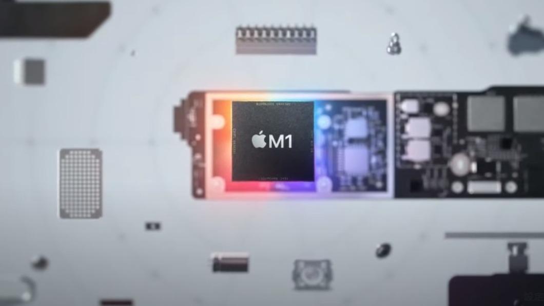 圖/翻攝自 Apple Event  蘋果推首款自家M1處理器 晶片大戰前哨戰