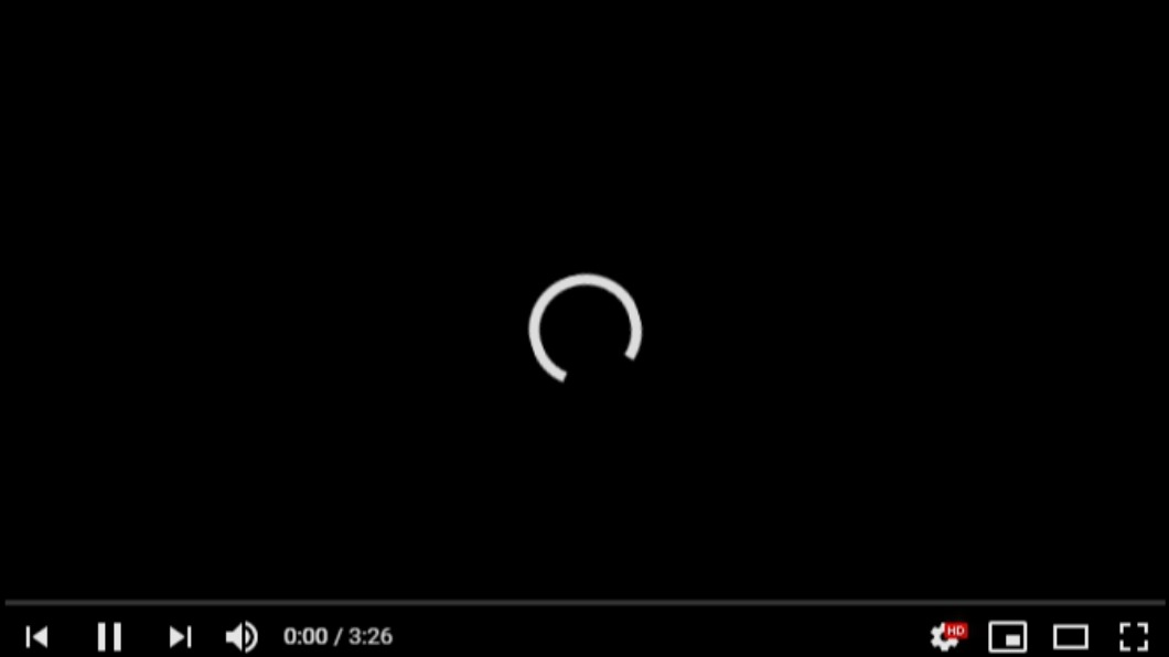 YouTube大當機。(圖/TVBS) YouTube傳大當機 黑屏無限圓圈影片無法播放