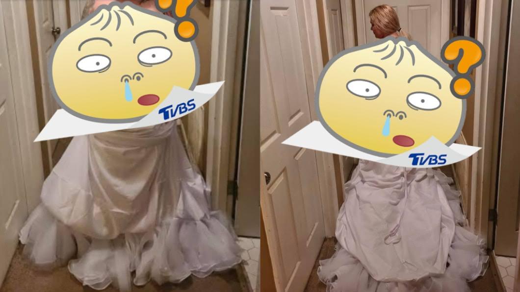 (圖/翻攝自臉書) 準新娘買婚紗變「簡陋白被單」 她客訴遭回1句話糗爆
