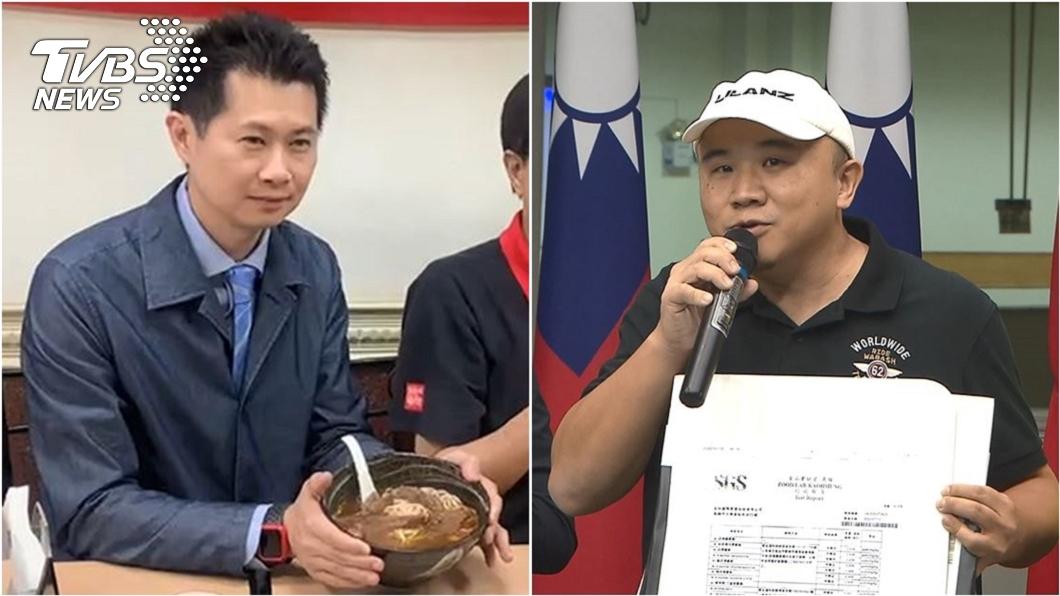 (圖/TVBS資料畫面) 丁怡銘曝光加油簡訊 牛肉麵老闆現身打臉:不是我傳的