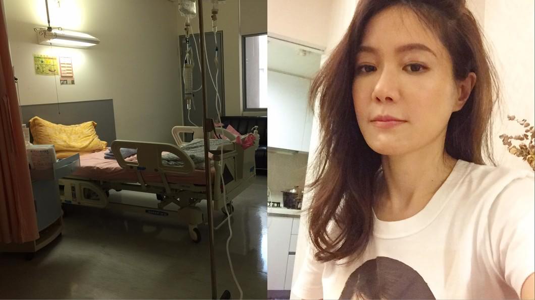 尹馨4月因無故在家高燒數日,住院檢查發現右腎長了一顆7公分大的腫瘤。(圖/翻攝自尹馨臉書) 遭判「罹癌2期」切腎保命 尹馨親曝遺書真相