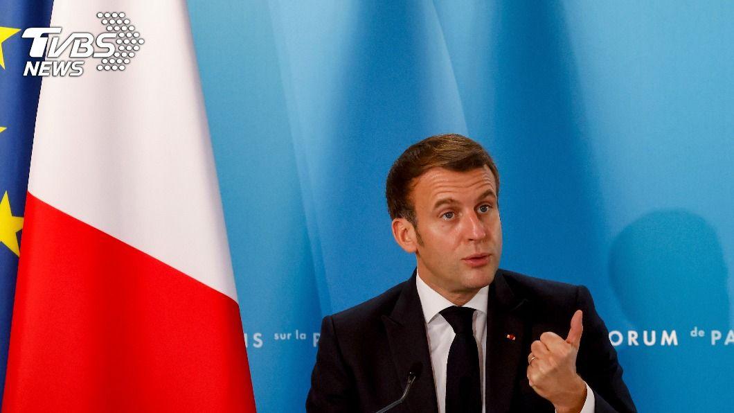 法國總統馬克洪。(圖/達志影像美聯社) 不靠美國 馬克洪:歐洲須有自我防衛力量