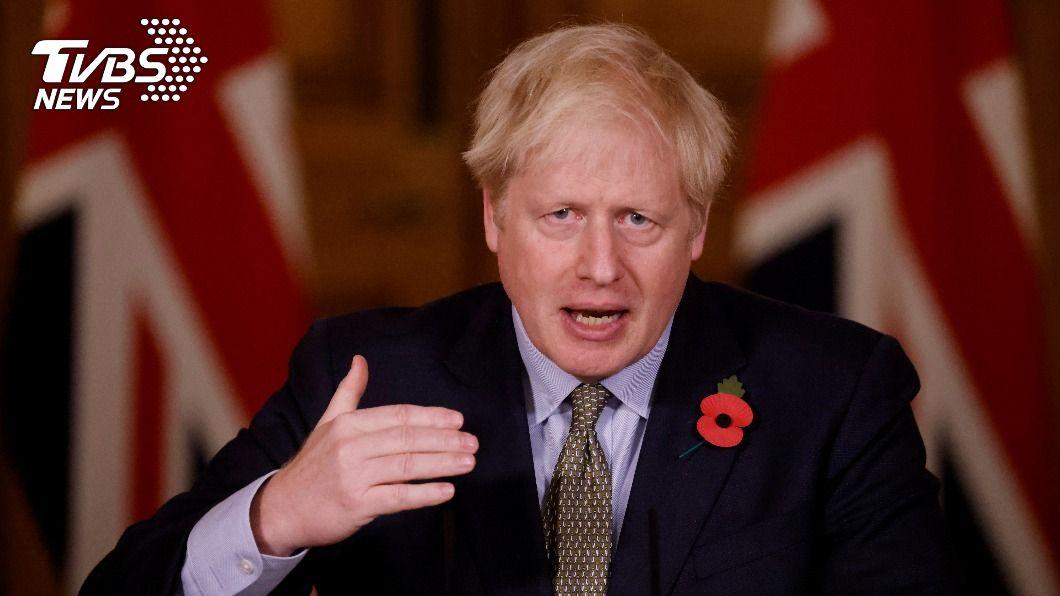 英國首相強生。(圖/達志影像路透社) 英相將公布10點綠能計畫 2030年禁售汽柴油車