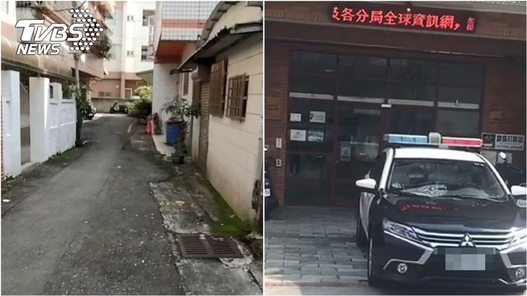 (圖/TVBS) 宜蘭國三女遭「鎖喉強拉巷內」 警火速逮捕陌生怪客