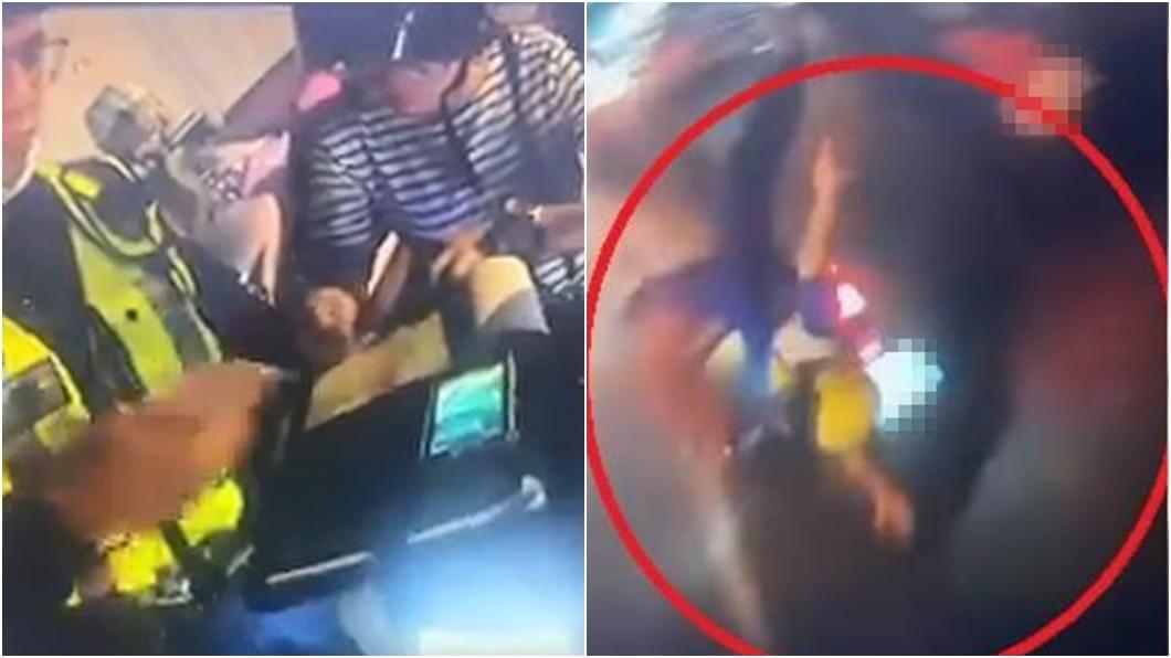 (圖/翻攝自爆料公社) 「母急催油門兒噴飛」影片外流 警遭懲處網灌爆警局臉書