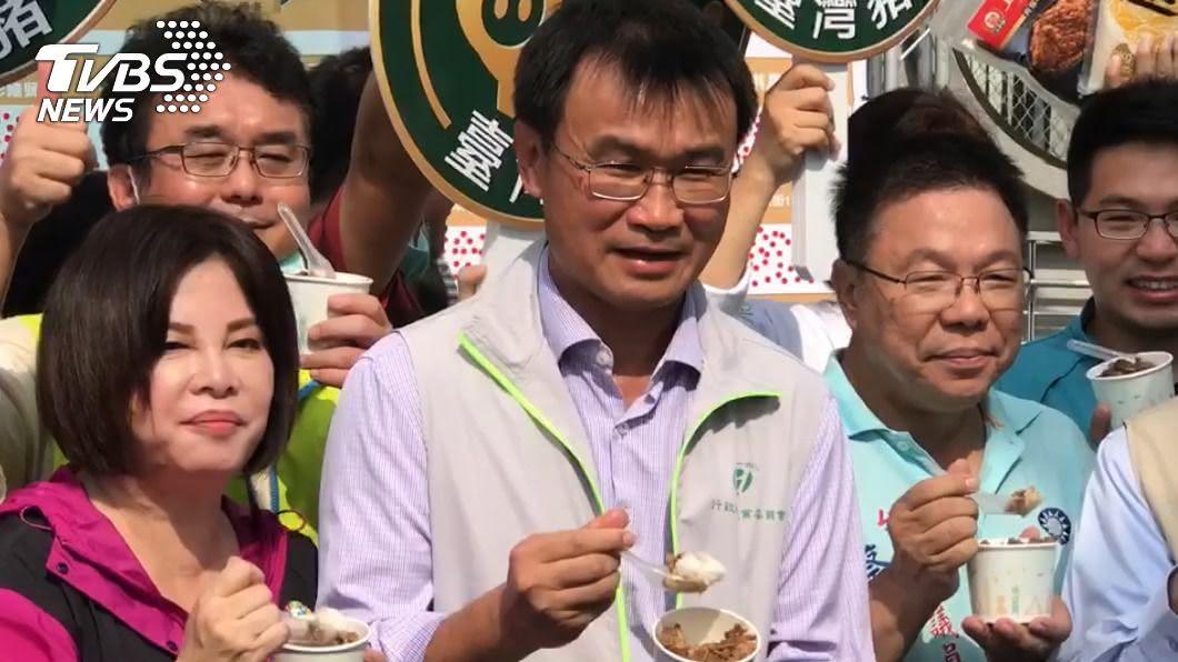 農委會主委陳吉仲。(圖/TVBS資料畫面) 萊豬引抗爭 陳吉仲:日本15年前就開放,吃得比台人多