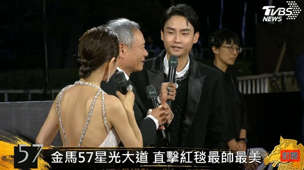 (圖/TVBS) 金馬57/首度主持紅毯 大鶴「說話含滷蛋」吃螺絲挨批
