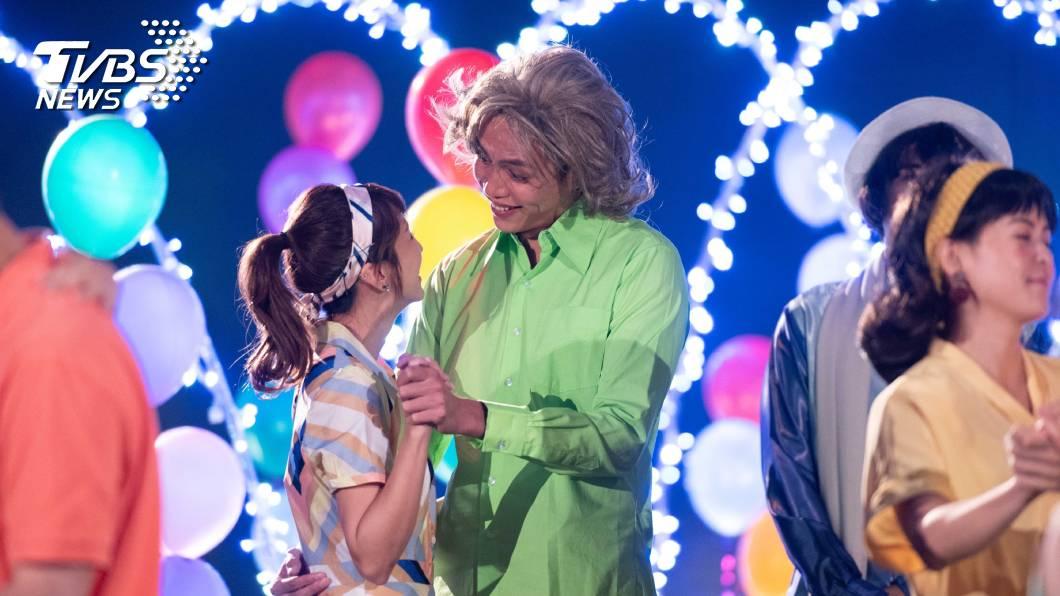 鯰魚哥林建予在劇中大告白。圖/TVBS 《女力報到-最美的約定》 林建予被封「最後一任男友」