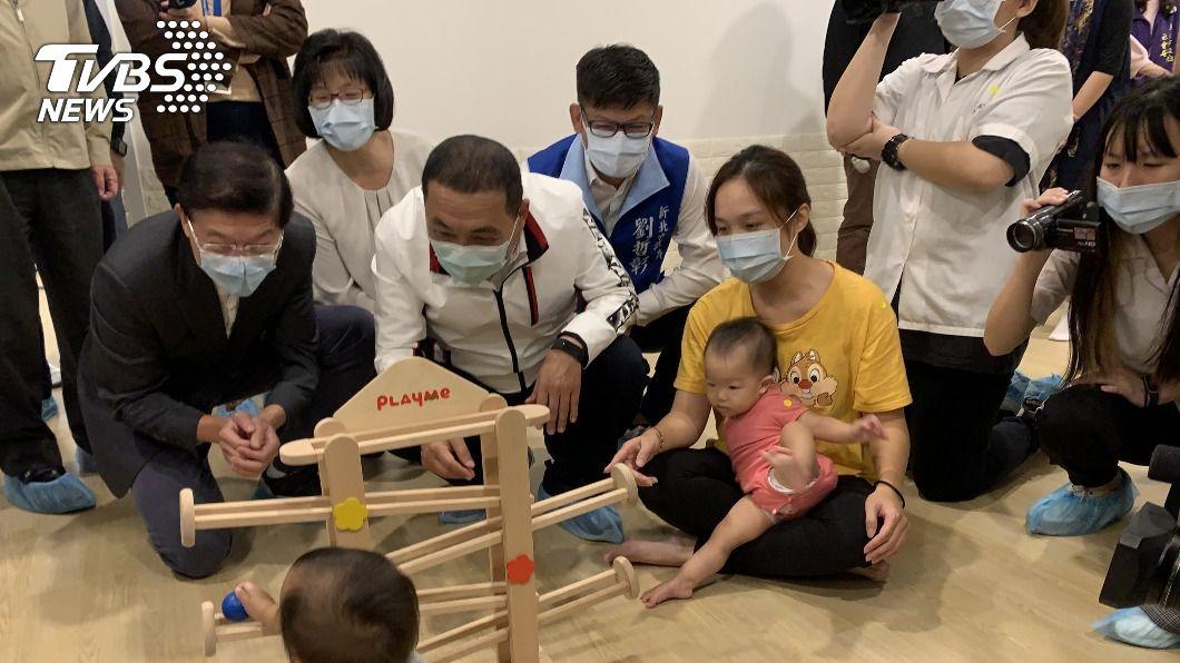 (圖/中央社) 新增公托聯合開幕 新北力拚110年農曆年前達90家