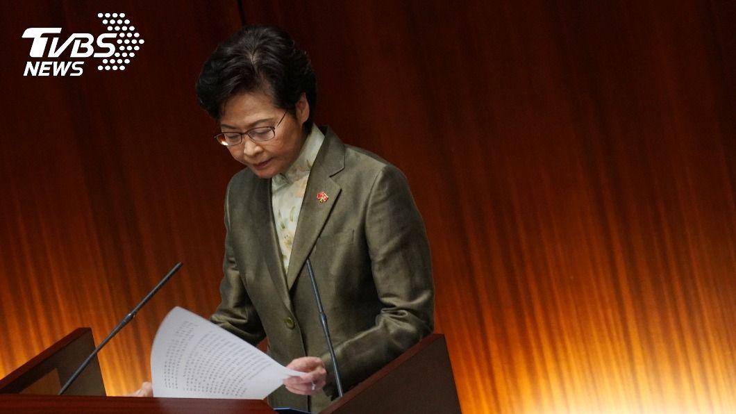 香港行政長官林鄭月娥。(圖/達志影像路透社) 港特首宣布施政報告 北京支持多項經濟民生措施